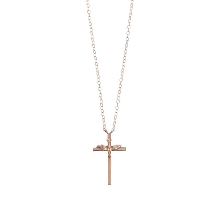 BE CAREFUL, IT'S MY HEART Cross Necklace