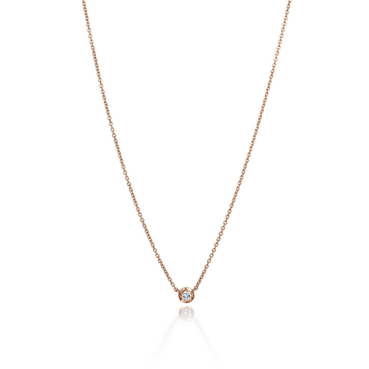 COLLET SETTING DIAMOND NECKLACE (0.1 carat)