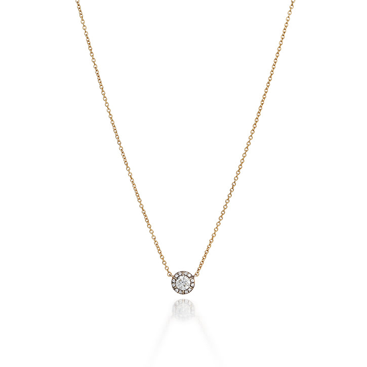COLLET SETTING DIAMOND NECKLACE (0.3 carat)