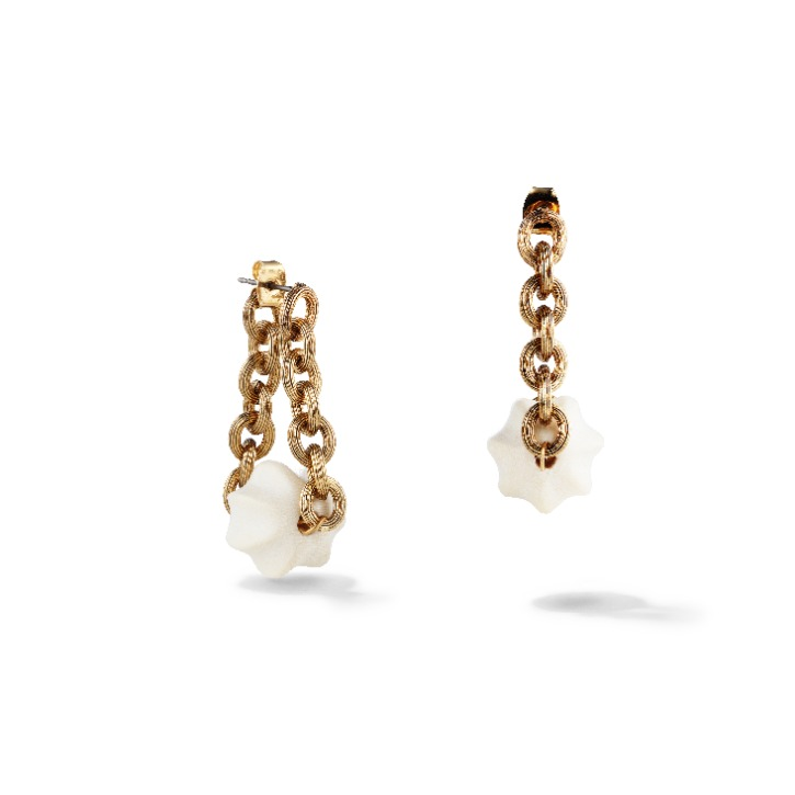 White Dune Dangle Earring