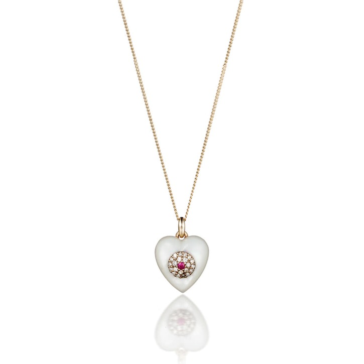 HEART MOTHER-OF-PEARL NECKLACE